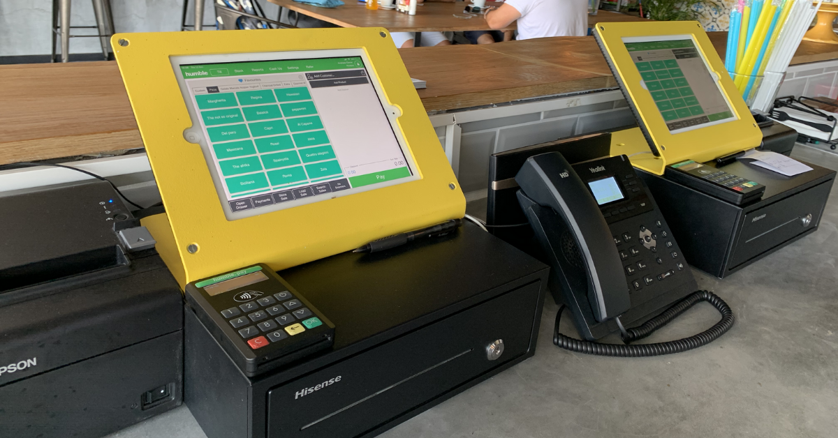 Point of sale system hardware and software business set up