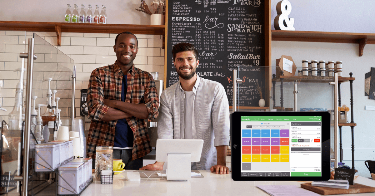 business owners using point of sale system
